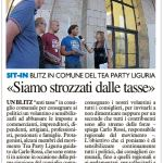 LA NAZIONE La Spezia -volantinaggio antitasse Tea Party