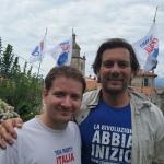 Carlo Rossi (a destra) con il portavoce nazionale Giacomo Zucco
